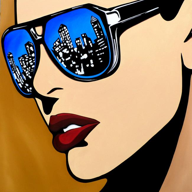 Original Abstract Pop Art Urban Vision - by Thomas C. Fedro from ...