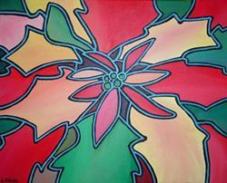 Art: Poinsettia Pop! by Artist Lindi Levison