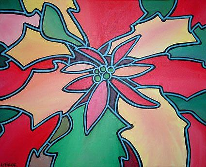 Art: Poinsettia Pop! by Artist Lindi Levison