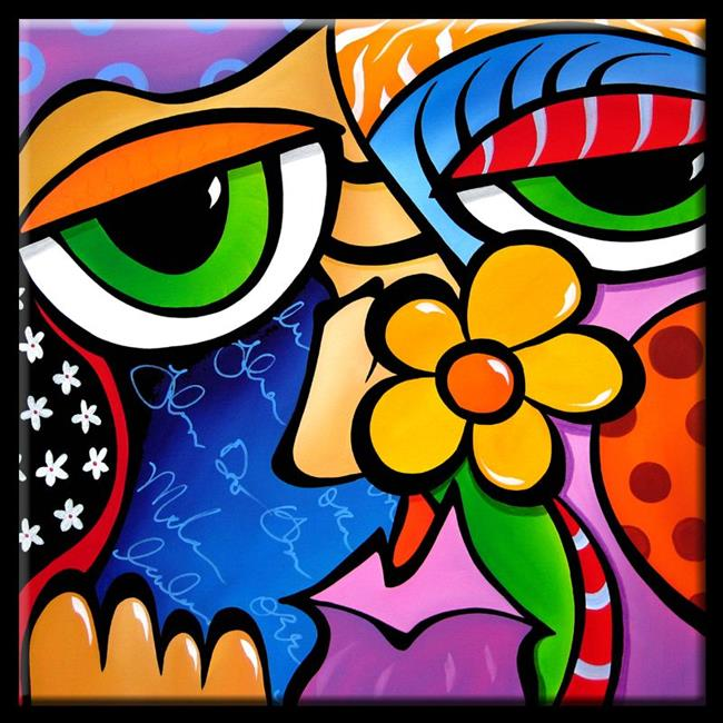 Art: Pop 316 2424 Abstract Pop Art Scratch n Sniff by Artist Thomas C. Fedro