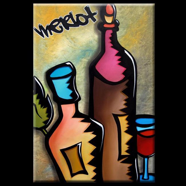 Art: Pop 324 2436 Original Abstract Pop Art Tasting by Artist Thomas C. Fedro