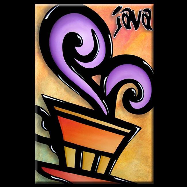 Art: Pop 325 2436 Original Abstract Pop Art Java by Artist Thomas C. Fedro