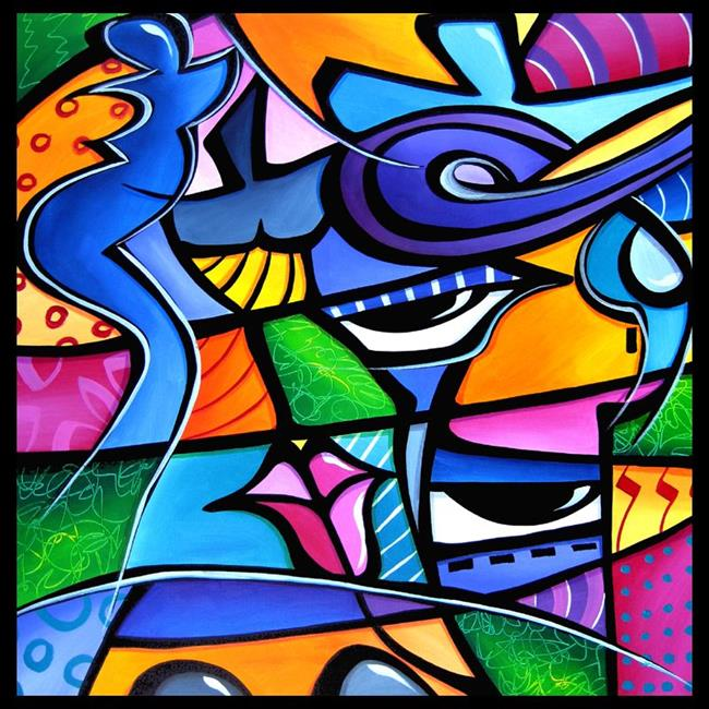 Art: Pop 360 2424 Original Abstract Pop Art Take Me Home by Artist Thomas C. Fedro