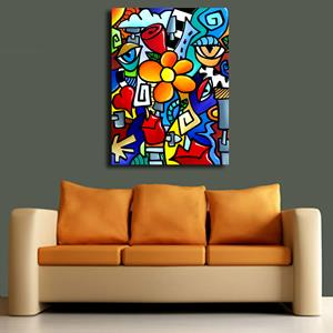 Detail Image for art Original Abstract Pop Art Biomechanical Love