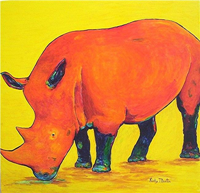 Art: Pop Rhino (sold) by Artist Ulrike 'Ricky' Martin