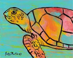 Art: Pop Turtle - available in my etsy store by Artist Ulrike 'Ricky' Martin