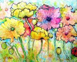 Art: Poppies ( available in my ebay store) by Artist Ulrike 'Ricky' Martin