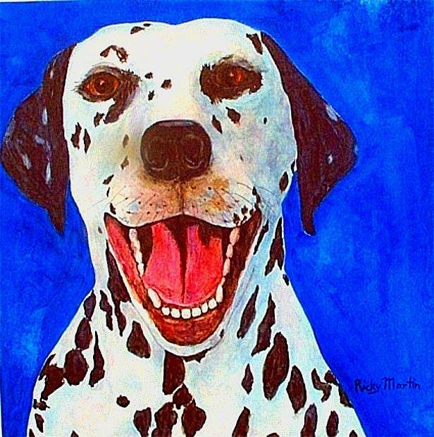 Art: Dalmation (sold) by Artist Ulrike 'Ricky' Martin