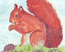 Art: Red Squirrel by Artist Ulrike 'Ricky' Martin