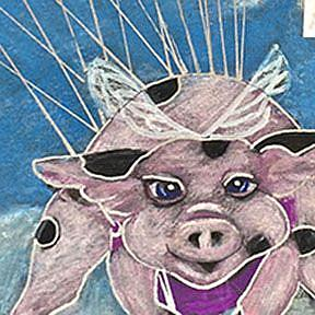 Detail Image for art Plan B Flying Pig