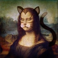 Art: Mona Lisa: the Claws are Out by Artist Alma Lee