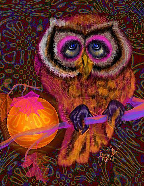Art: Swing Shift Owl by Artist Alma Lee