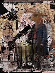 Art: Old Goat in Congress aka you know who you are! by Artist Alma Lee