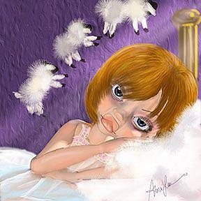 Art: Lay me Down to Sleep by Artist Alma Lee