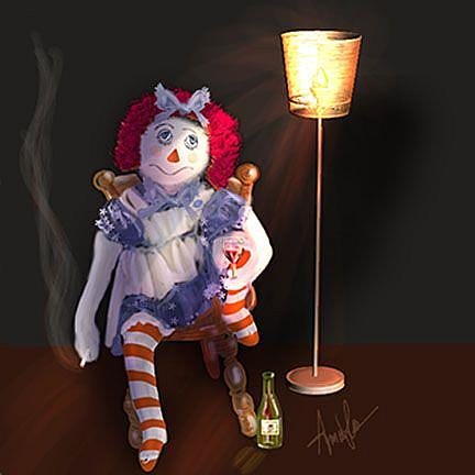 Art: After Hours: Raggety Ann by Artist Alma Lee