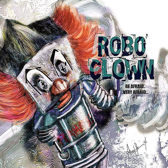 Art: RoBo Clown by Artist Alma Lee