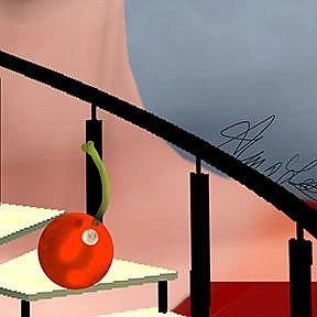 Detail Image for art Girl and a Cherry Staircase