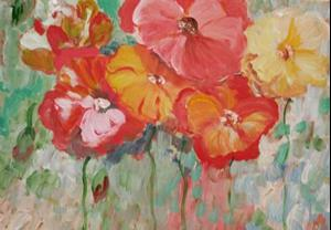 Detail Image for art Poppies in a Row