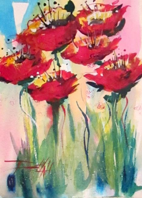 Art: Poppies No. 5-sold by Artist Delilah Smith