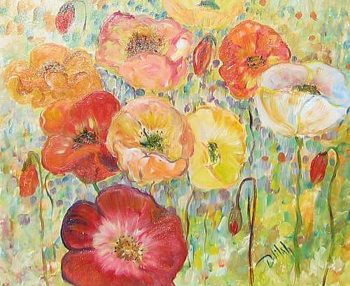 Art: Poppy Parade by Artist Delilah Smith