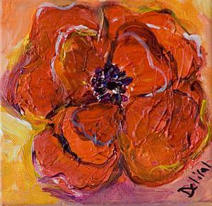 Art: One Flower-sold by Artist Delilah Smith