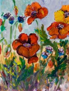 Detail Image for art Poppies III