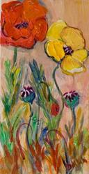 Art: Tall Poppies 2 by Artist Delilah Smith