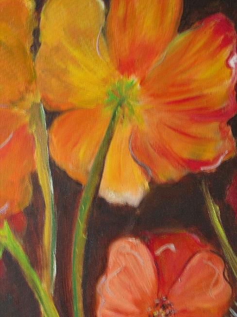 Art: Tuscan Poppies by Artist Delilah Smith
