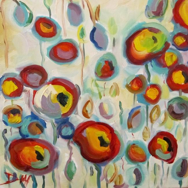 Art: Abstract Garden of Poppies by Artist Delilah Smith