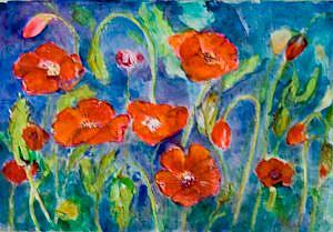 Detail Image for art Red Hot Poppies
