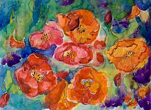 Detail Image for art Poppies and Flowers
