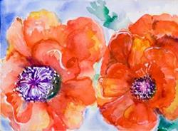 Art: Poppies 2 by Artist Delilah Smith