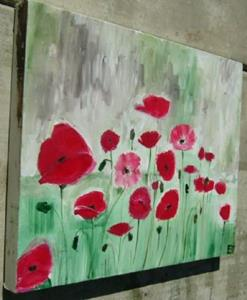 Detail Image for art abstract red poppies