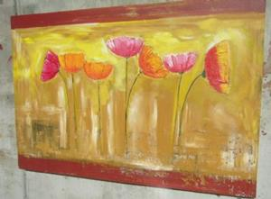 Detail Image for art TEXTURED FRESCO POPPIES
