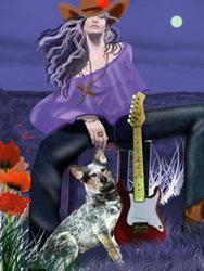Art: Poppy by Artist Carol Cross
