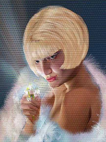 Art: The Snowdrop Princess by Artist Alma Lee