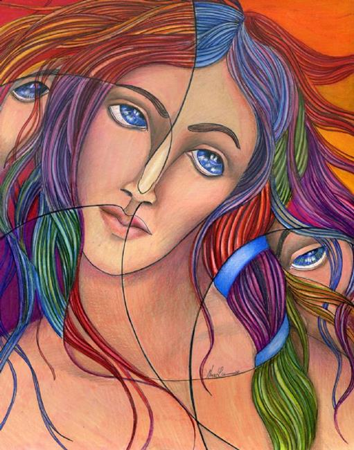 Art: The Fall of Eve (SOLD) by Artist Alma Lee
