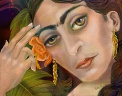 Art: Frida Kahlo: When I Dream by Artist Alma Lee