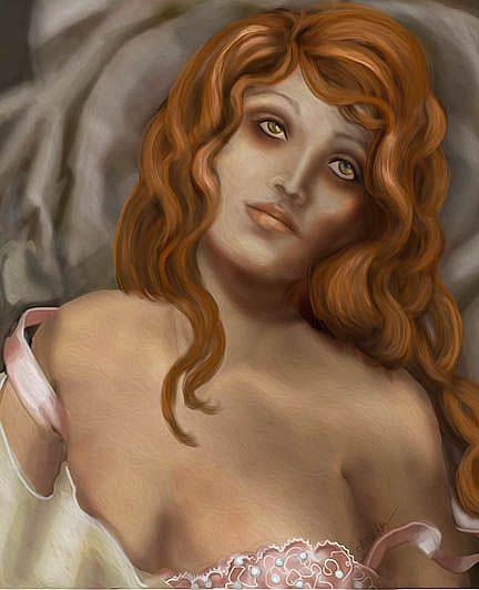 Art: Convalescence: ode to Tamara De Lempicka by Artist Alma Lee