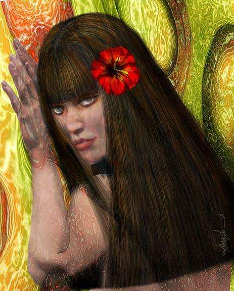 Art: Tropic Temptress by Artist Alma Lee