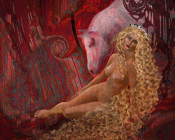 Art: Lady Godiva: The balance of Power by Artist Alma Lee