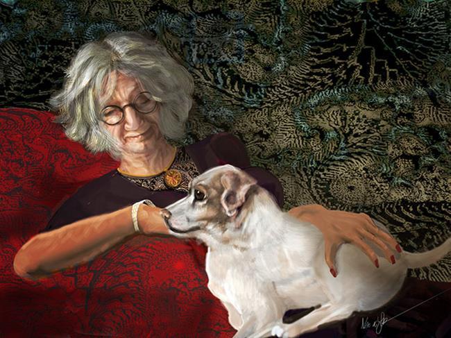 Art: Carolyn: Requiem of Repose by Artist Alma Lee