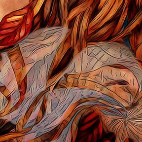 Detail Image for art Yellow Leaves and Gossamer