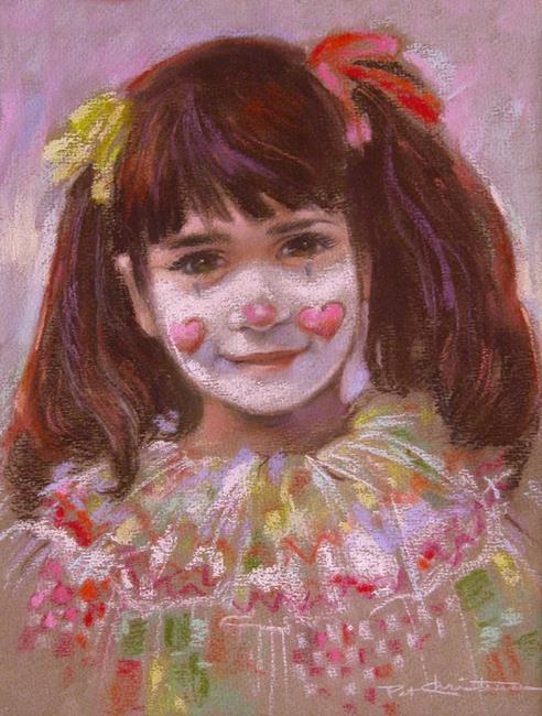 Art: Gina Clown by Artist Patricia  Lee Christensen