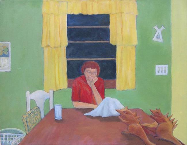 Art: Mom and the Housework Demons by Artist Virginia Ann Zuelsdorf