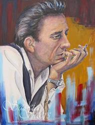 Art: Johnny Cash by Artist Saskia Franken-Saers