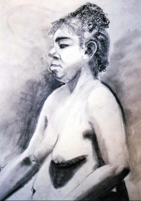 Art: Woman by Artist Shawn Marie Hardy