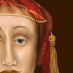 Detail Image for art Nothing so Fair: Portrait on King Henry's fifth wife