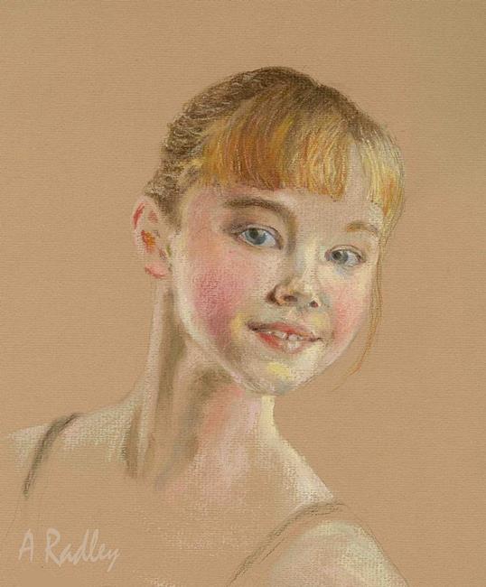 Art: Portrait of a Dancer by Artist Ann Radley