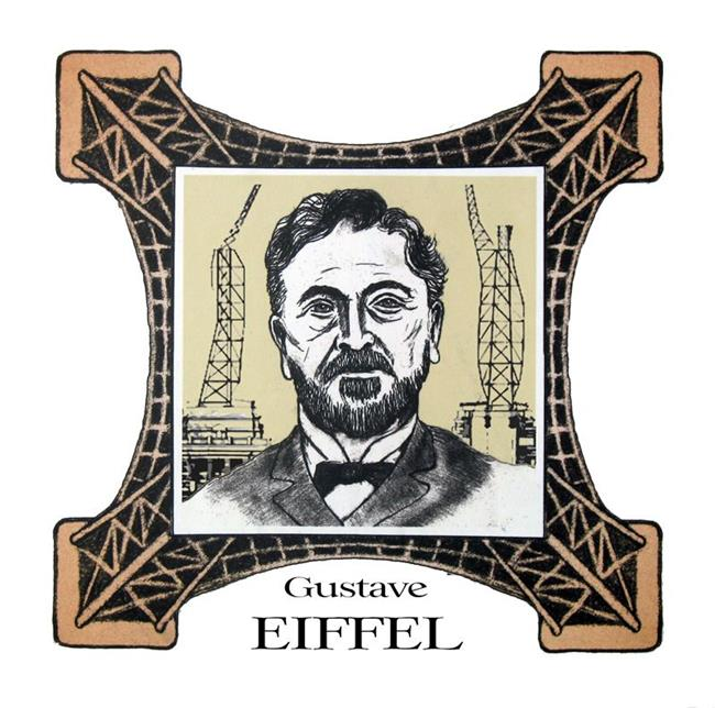 Art: Gustave Eiffel by Artist Paul Helm